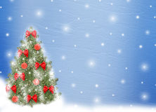 Christmas tree with balls and bows stock illustration