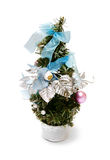 Christmas tree with balls and bows Stock Photos