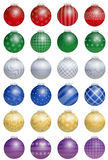 Christmas Tree Balls Colorful Stock Image