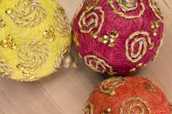 Christmas tree balls decor Stock Image