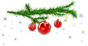 Christmas tree with balls and decorations Stock Photography