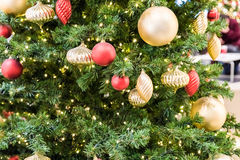 Christmas Tree Balls Decorations Royalty Free Stock Photo