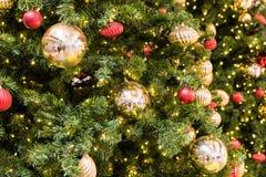 Christmas Tree Balls Decorations Royalty Free Stock Photo