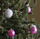 Christmas tree with balls decorations Royalty Free Stock Images