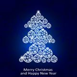 Christmas tree of balls. Design of holiday greeting cards, calendars, banners, posters, invitations. Happy New Year. Vector element for New Year`s design Royalty Free Stock Photos