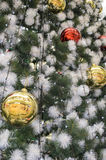 Christmas tree the balls Royalty Free Stock Photography