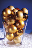 Christmas tree balls in glass Royalty Free Stock Image