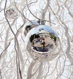 Christmas tree balls and mirroring Stock Photo