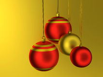 Christmas tree balls Stock Photo