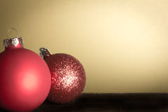 Christmas tree balls red vintage Royalty Free Stock Image