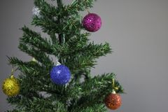 Christmas tree with Christmas balls Stock Image