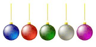 Christmas tree balls Stock Image