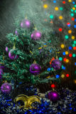 Christmas tree balls Snow Mask Stock Photography