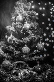 Christmas tree balls Snow Mask Royalty Free Stock Photography