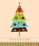 Christmas tree with balls. Royalty Free Stock Photography