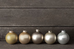 Christmas tree balls wood retro Royalty Free Stock Image
