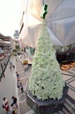 Christmas Tree in Bangkok 2012-2013. Made entirely of crumpled plastic bottles Stock Photo