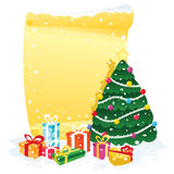Christmas tree banner Stock Images