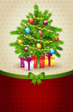 Christmas tree banner Stock Photo