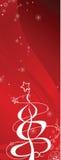 Christmas tree banner Stock Photography