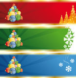Christmas tree banner Stock Photos
