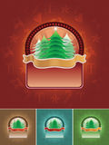 Christmas Tree Banner Set Royalty Free Stock Photography