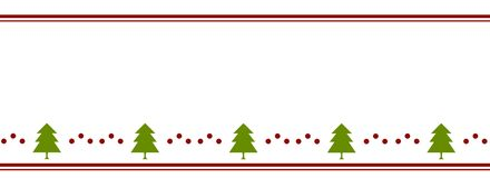 Christmas tree banner. Flat design. Ribbon pattern. royalty free stock photography