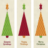 Christmas tree banners. Vertical christmas tree banners with seasonal messages Royalty Free Stock Photo