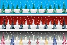 Christmas Tree Banners Royalty Free Stock Photos