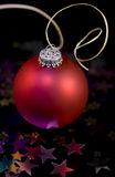 Christmas tree bauble. Isolated on black background Royalty Free Stock Images