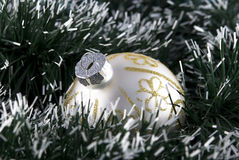 Christmas Tree Bauble. With green decorative chain Stock Photo