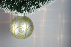 Christmas Tree Bauble. With green decorative chain Royalty Free Stock Photography
