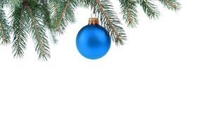 Christmas tree and bauble Stock Photos