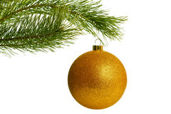Christmas tree with bauble Royalty Free Stock Images