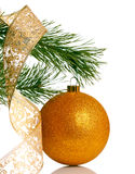 Christmas tree with bauble Royalty Free Stock Photo