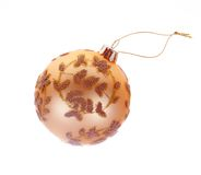 Christmas Tree Bauble with clipping path Stock Images