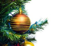 Christmas tree with bauble Royalty Free Stock Photography