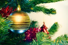 Christmas tree with bauble Royalty Free Stock Photos