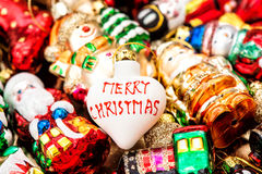 Christmas tree bauble and colorful ornaments. Merry Christmas Stock Photography