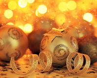 Christmas tree bauble ornament and star decoration Royalty Free Stock Photos
