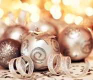 Christmas tree bauble ornament and star decoration Stock Photo