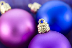 Christmas Tree Baubles. Christmas tree colorful balls close up Stock Images