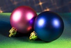Christmas Tree Baubles. Christmas tree decoration balls close-up Stock Image