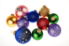Christmas tree baubles Royalty Free Stock Photos