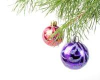 Christmas tree baubles Stock Photos