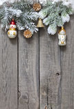 Christmas tree and baubles background Royalty Free Stock Images