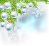 Christmas Tree Baubles Background Royalty Free Stock Photo
