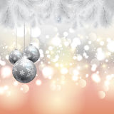 Christmas tree and baubles background Royalty Free Stock Photography
