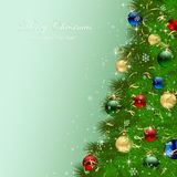 Christmas tree with baubles Royalty Free Stock Photos