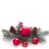 Christmas tree with baubles Stock Photos